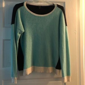 Talbots cashmere color block sweater